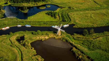 River Ant With Windmill, Norfolk Broads, Near How Hill, Norfolk