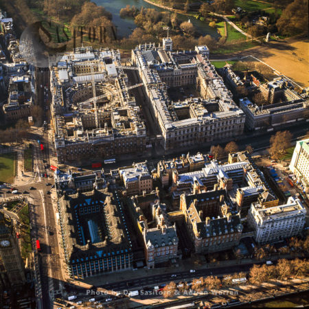 HMRC, Downing Street And The Northern Parliament Estate Of UK, London