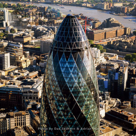 30 St Mary Axe Or The Gherkin, A Commercial Skyscraper In London's Primary Financial District, The City Of London