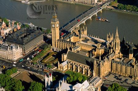 Big Ben, Houses Of Parliament, Westminster Bridge, London