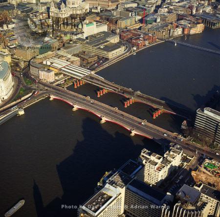 Blackfriars Bridge And Railway Bridge, London