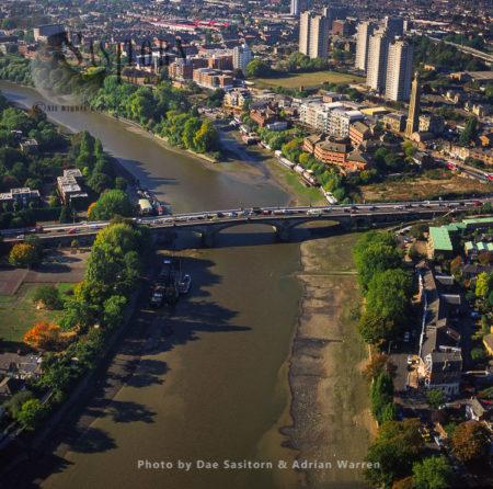 Kew Bridge Crosses The River Thames Between Kew Green And Brentford, London