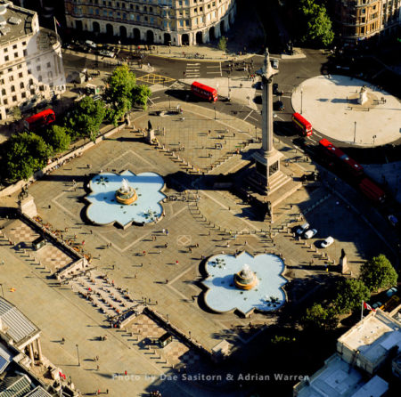 Trafalgar Square And  Nelson's Column, A Public Square In The City Of Westminster, Central London