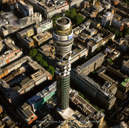 The BT Tower, A Communications Tower, Fitzrovia, London