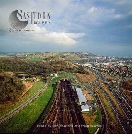 Channel Tunnel, Channel Tunnel Terminal, Kent, England