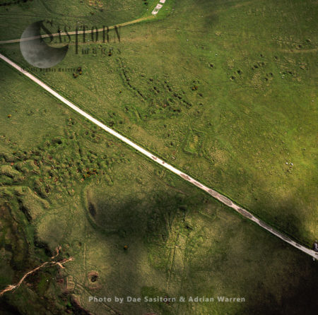 Ancient Tin Mining Excavation Area In Dartmoor, Devon, England