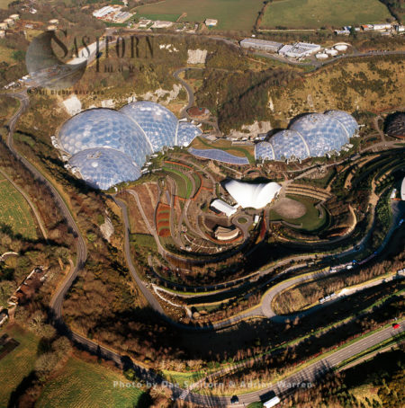Eden Project, In A Reclaimed China Clay Pit, St Austell, Cornwall