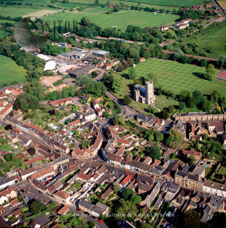 Bruton, The Abbey And The Town, Somerset