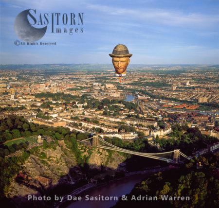 Balloons Over Clifton Suspension Bridge, Balloon Fiesta 2004, England
