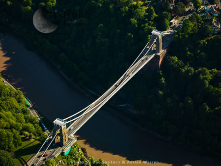 Clifton Suspension Bridge Over The Avon River, Bristol, Somerset