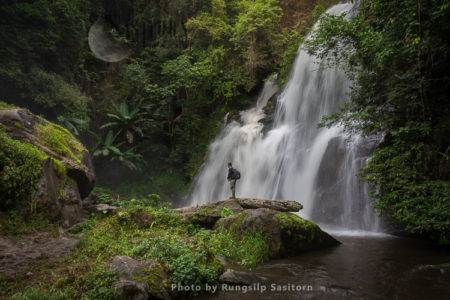 Pha Dok Siew Waterfall, Doi Inthanon National Park, Chiang Mai Thailand.