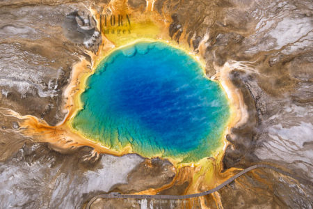 Grand Prismatic Spring, Yellowstone National Park, Midway Geyser Basin, The Largest Hot Spring In The USA