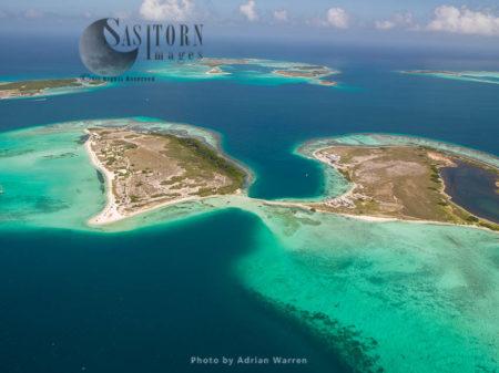 Madrisqui And Cayo Pirata, Islands In Los Roques Archipelago, Caribbean Sea, Venezuela
