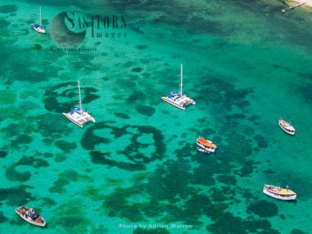 Boats At Gran Roque Island, The Main Island Of Los Roques Archipelago, Caribbean Sea, Venezuela