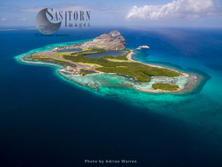 Gran Roque (view From The East), The Main Island Of Los Roques Archipelago, Caribbean Sea, Venezuela