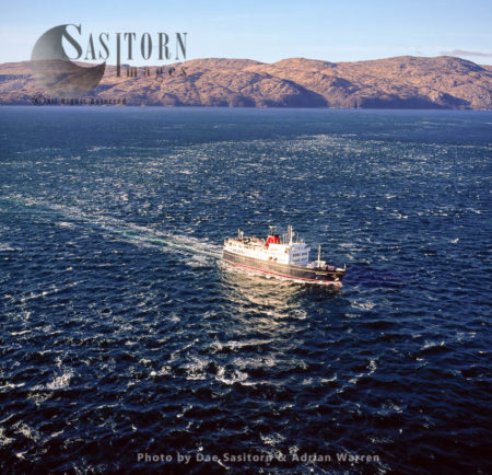A Ferry, Southern Tip Of The Isle Of Lismore, Sound Of Mull, Scotland