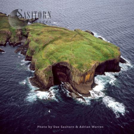 Fingal's Cave, On Uninhabited Island Of Staffa, Inner Hebrides, West Coast Scotland