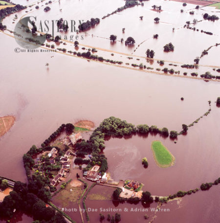 Flooding In Tewkesbury Area, 2007, From River Severn And River Avon, Gloucestershire, England