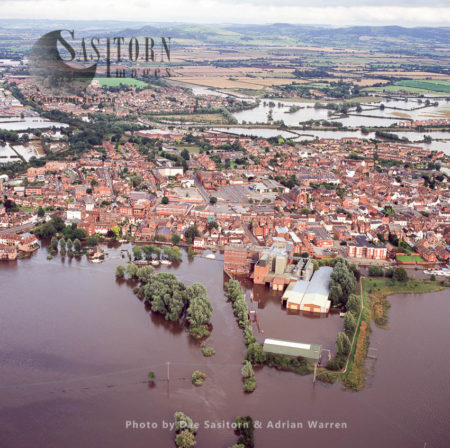 Flooding In Tewkesbury Area, 2007, From River Servern And Avon, Gloucestershire, England