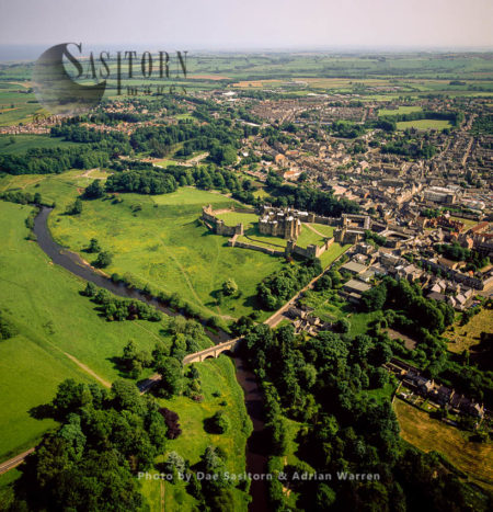 Alwick Castle And Its Town, Alwick, Northumberland