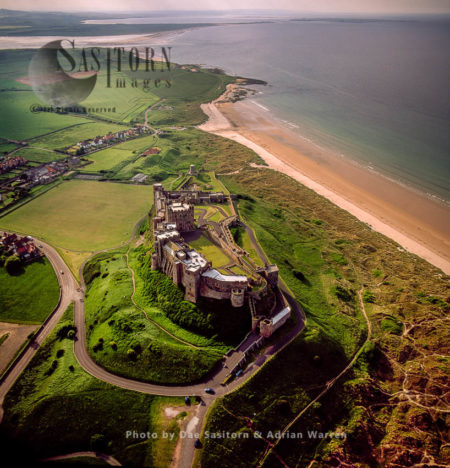 Bamburgh Castle, Built On A Dolerite Outcrop, Northumberland