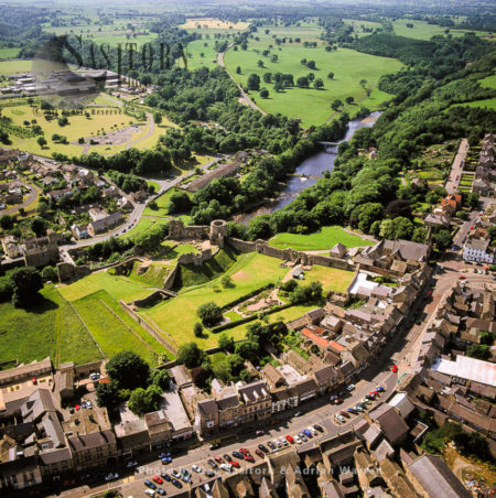 Barnard Castle, A Castle And A Market Town, On The North Bank Of River Tees, Teesdale, Durham