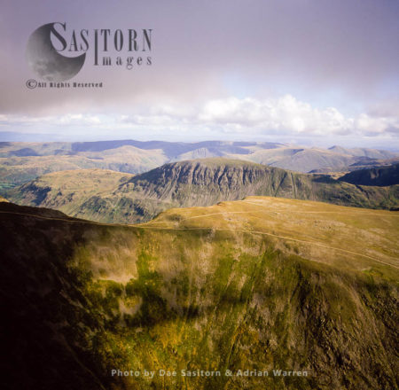 From Striding Edge Near Birkshouse Moor, Looking South To  St Sunday Crag, Lake District National Park, Cumbria