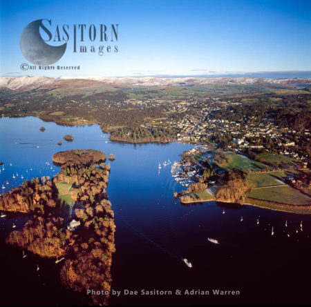 Belle Isle And Bowness-on-Windermere, Lake Windermere, Lake District National Park, Cumbria