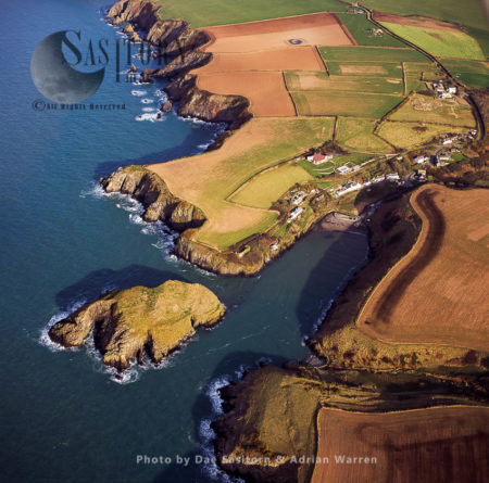 Abercastle, Pembrokeshire, Wales.  The Harbour Was The Landing-site Of The First Atlantic Ocean Single-handed Sailing 1876