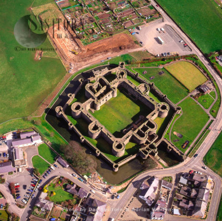 Beaumaris Castle, On Island Of Anglesey, Village Centre, North Wales