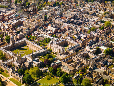 Christ Church And Tom Tower, Christ Church Library, Corpus Christi College And Oriel College, University Of Oxford, Oxfordshire, England