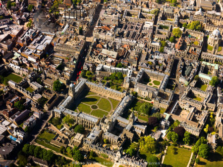Christ Church And Tom Tower, Christ Church Library, Corpus Christi College, Oxford House College And Oriel College, University Of Oxford, Oxfordshire