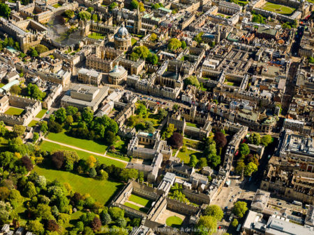 From The North Side Of Radcliffe Camera, St John's College, Balliol College, Trinity College, Weston Library And Exeter College, University Of Oxford, Oxfordshire