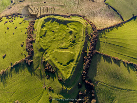 Brent Knoll Camp, An Iron Age Hillfort, Brent Knoll, Somerset, England