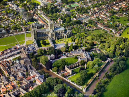 Bishop's Palace And Wells Cathedral, Wells, Somerset