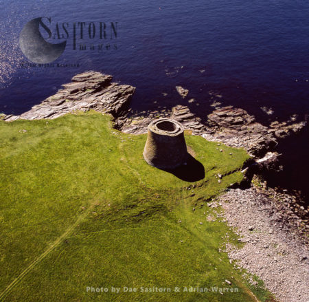 Broch Of Mousa, The Tallest Still Standing Broch In The World, Island Of Mousa, Shetland Islands, Scotland