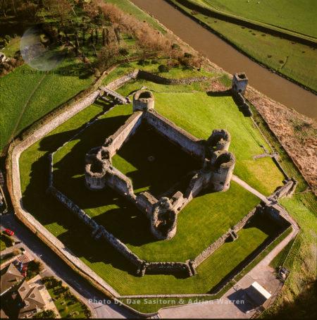 Rhuddlan Castle, On The River Clwyd, Rhuddlan, Denbighshire, North Wales