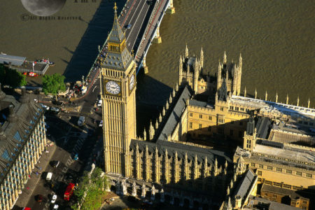 Big Ben And Palace Of Westminster, Westminster Bridge, Westminster, London, England