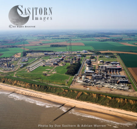 Bacton Gas Terminal, A Complex Of Six Gas Terminals Within Four Sites Located On The North Sea Coast Of Norfolk