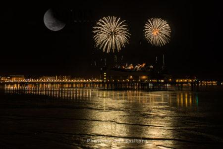 Fireworks Display, Weston-super-Mare Pier, Somerset